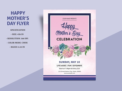 Printable Mothers Day Invitation Template ms word photoshop template invitation template mothers day mothers day 2020 party invitation invitation flyer party flyer mothers day flyer