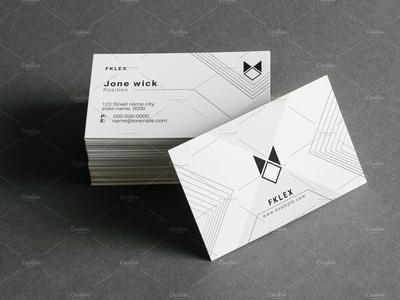 Minimal Business Card ai white business card design creative business card clean business card illustrator template business card minimal business card template minimal business card business card