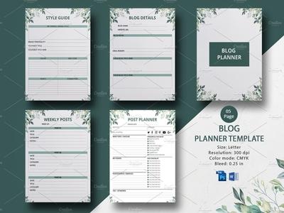 Printable Blog Planner ms word photoshop template blogging plan blog post worksheet blog post planner blogging checklist blog worksheet daily planner planner calendar blog planner planner