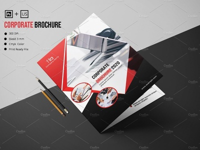Business Bifold Brochure promotional multipurpose photoshop template professional clean creative minimal company  brochure bifold brochure corporate brochure business brochure