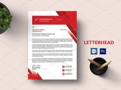 Letterhead ms word photoshop template creative letterhead minimal letterhaed clean letterhead corporate letterhead business letterhead letterhead a4 lettehead word letterhead letterhead template