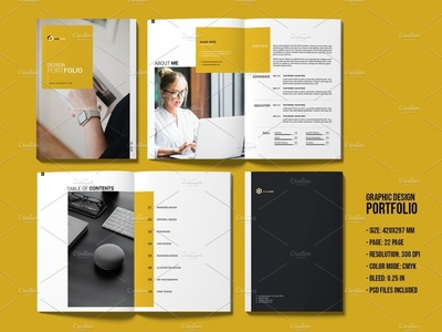 Portfolio Template modern informational photoshop template creative corporate brochure magazine template brand presentation proposal highlight offer portfolio brochure portfolio template