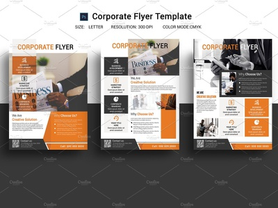 Clean Business Flyer photoshop template clean flyer poster sale clean creative flyer minimal flyer company flyer business flyer corporate flyer clean business