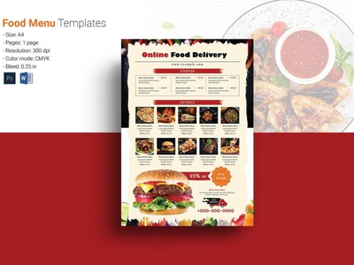 Food Delivery Service Flyer restaurant template ms word photoshop template restaurant menu fast food delivery online order home delivery pizza shop derlivery service food delivery food delivery service