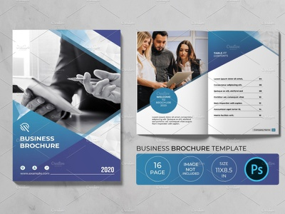 Bifold Business Brochure finance professional photoshop template multipurpose creative modern clean minimal company flyer corporate flyer business flyer