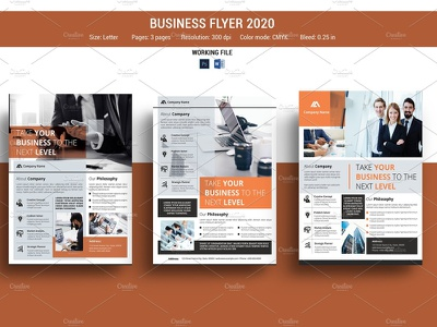 Clean Business Flyer ms word photoshop template professional multipurpose modern creative minimal company flyer corporate flyer business flyer clean business