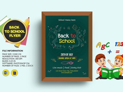 Printable Back to School Party Flyer Template invitation printable ms word photoshop template invitation flyer party invitation .party flyer back to school flyer school party flyer school party back to school