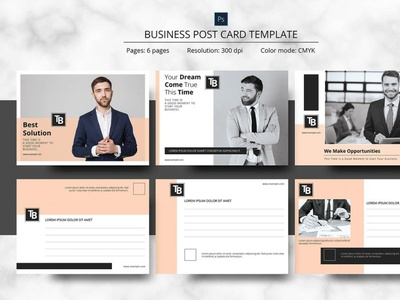 Corporate Postcard Template psd editable modern photoshop template clean minimal creative postcard promotional business postcard postcard corporate postcard