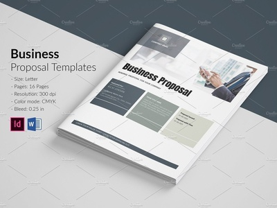 Business Proposal ms word indesign template company profile company proposal clean proposal minimal proposal project proposal proposal template proposal business proposal
