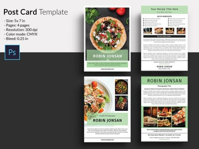 Food Postcard Flyer Template psd photoshop template multipurpose postcard postcard template food template flyers food flyer postcard food postcard food