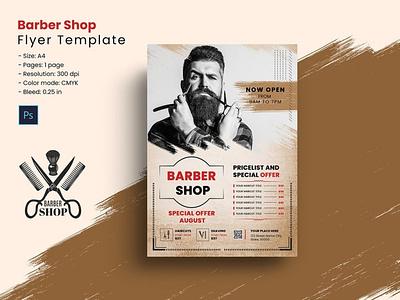 Barber Shop Flyer Template ms word photoshop template flyers shaving shop salon men salon hair cut shop barber barber shop barber shop flyer