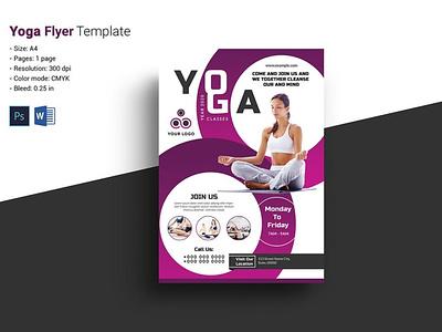 Yoga Flyer Template ms word psd photoshop template yoga club fitness club flyer fitness fitness flyer yoga yoga flyer