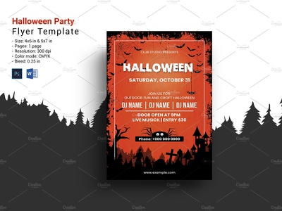 Halloween Party Flyer halloween poster ms word photoshop template ghost party invitation flyer party invitation flyer party flyer night party halloween night halloween flyer halloween party flyer