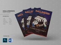 Halloween Party Flyer halloween night party ms word photoshop template invitation flyer party flyer ghost party halloween poster halloween halloween flyer halloween party flyer
