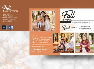 Fall / Autumn Mini Session Template ms word photoshop template marketing board photography marketing photography mini session fall photography autumn mini fall mini autumn mini session fall mini session