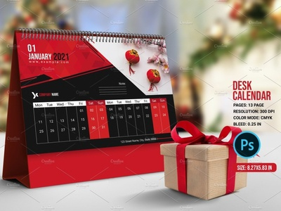 Desk Calendar photoshop template calendar 2021 table calendar modern calendar yearly calendar desk calendar 2021 business calendar corpoate calendar desktop calendar calendar desk calendar
