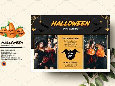 Halloween Mini Session photoshop template halloween 2020 photography board photography session marketing board halloween marketing halloween photography mini session halloween mini halloween mini session
