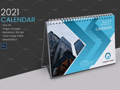 Desk Calendar 2021 designs, themes, templates and downloadable