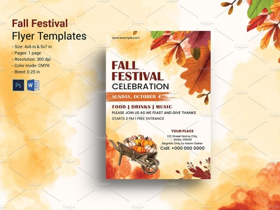 Autumn Festival Flyer Template psd ms word photoshop template festival flyer autumn party fall party autumn flyer fall flyer autumn party flyer fall party flyer