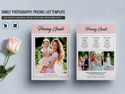 Photography Price List Template printable editable psd photoshop template photo pricing guide price list photography price guide photography price guide photography price list