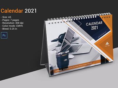 2021 Desk Calendar Template minimal calendar photoshop template monthly calendar yearly calendar calendar 2021 business calendar calendar desk calendar desk calendar 2021 desk calendar template