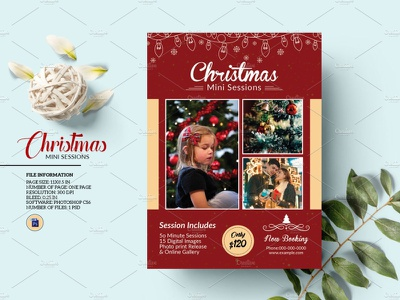 Christmas Mini Session mini session card studio photoshop template promotional photography marketing christmas template marketing holiday mini session photography mini session christmas mini session