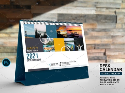 Desk Calendar 2021 psd modern calendar photoshop template calendar design calendar monthly calendar yearly calendar business calendar desktop calendar desk calendar desk calendar 2021
