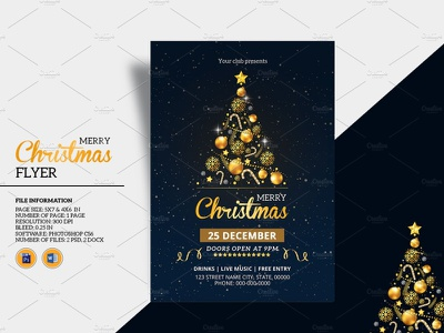 Christmas Party Flyer holiday invitation holiday flyer ms word photoshop template christmas 2020 invitation flyer christmas invitation party invitation party flyer christmas party christmas flyer christmas party flyer