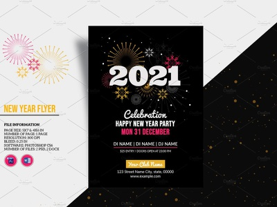 New Year Invitation Designs Themes Templates And Downloadable Graphic Elements On Dribbble