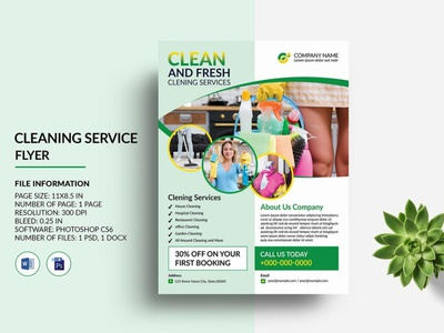 Cleaning Service Flyer instant download psd ms word photoshop template company flyer business flyer clean corporate cleaning flyer cleaning service cleaning service flyer