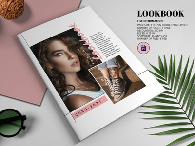 Fashion Lookbook Template instant download psd photoshop template magazine fashion magazine photography brochure photograhy magazine lookbook fashion lookbook fashion lookbook template