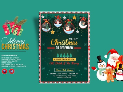 Christmas Party Flyer christmas invite christmas festival ms word photoshop template holiday invitation christmas 2020 holiday party christmas invitation christmas party christmas party flyer