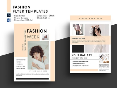 Fashion Promo Flyer ms word photoshop template product display offer sale fashion marketing marketing template blog board social media fashion promo fashion promo flyer