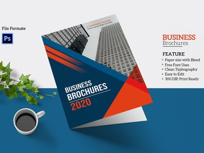 Clean Corporate Brochure Template printable editable psd photoshop template business multipurpose minimal clean brohcure business brochure corporate brochure clean corporate brochure