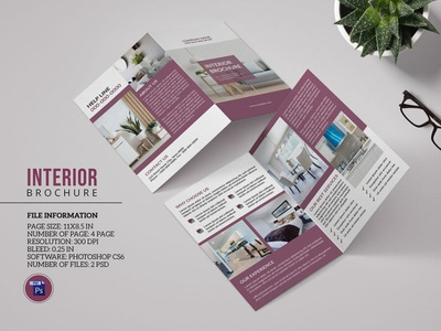 Interior Design Brochure Template psd photoshop template interior agency minimal interior menimal brochure corporate brochure interior interior brochure interior design interior desing brochure