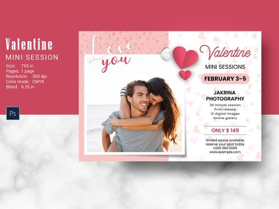 Valentines Day Mini Session Template photoshop template 14th february valentines marketing valentines 2021 marketing photography marketing board mini session template valentines mini session valentines day valentines day mini session