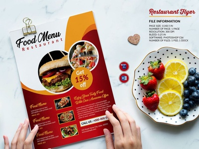 Restaurant Flyer template ms word photoshop template food promotional flyer cafe flyer burger shop food menu flyer fast food restaurant restaurant menu restaurant flyer