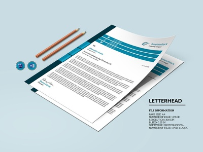 Corporate Letterhead ms word photoshop template professional clean minimal creative letterhead company letterhead business letterhead corporate letterhead