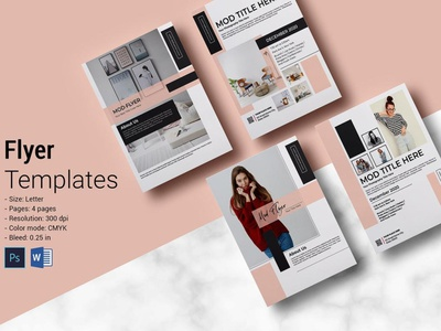Mod Flyer ms word photohop template minimal postcard interior minimal clean creative multipurpose mod mod flyer
