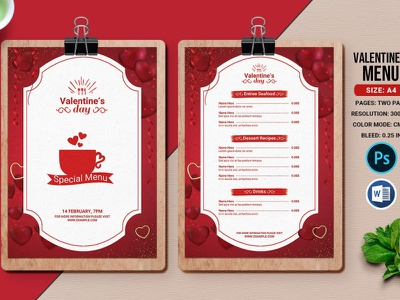 Valentine's day party menu black hamburger restaurant menu ms word photoshop template advertising fast food valentines day food menu valentines food menu valentines day party valentines day party menu