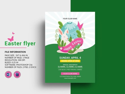 Easter Celebration Party Flyer ms word photoshop template easter egg hunt invitation flyer party invitation ester invitation party flyer easter party easter party flyer easter celebration