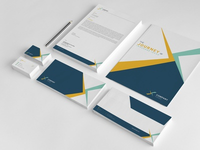 Clean Corporate Identity minimal identity indesign template corporate stationery branding statironery folder letterhead business card brand identity corporate identity clean corporate identity