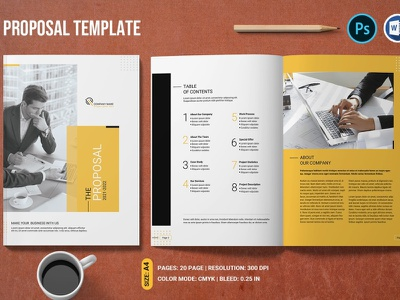 Business Proposal ms word photoshop template professional minimal proposal business brochure company profile proposal template project proposal company proposal business proposal