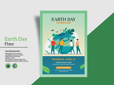 Earth Day Celebration Flyer ms word photoshop template festival invitation flyer party flyer earth celebration flyer earth day earth day celebration earth day flyer