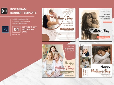 Mother's Day Instagram Banner square banner mother day post mother day 2021 photoshop template social media instagram post instagram banner happy mothers day mothers day banner mothers day instagram