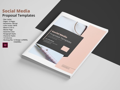 Social Media Proposal minimal proposal indesign template business brochure creative proposal project proposal company proposal business proposal proposal social media social media proposal