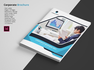 Business Brochure project profile strategy business plan proposal minimal clean company brochure indesign company corporate brochure business