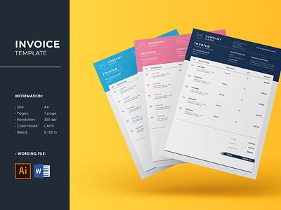 Clean Invoice Template company billing invoice ms word illustrator template creative business invoice word invoice minimal invoice invoice clean invoice