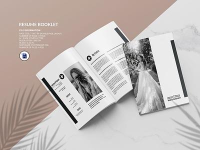 Resume Booklet Template printable editable psd photoshop template portfolio booklet resume book professional resume portfolio resume resume booklet