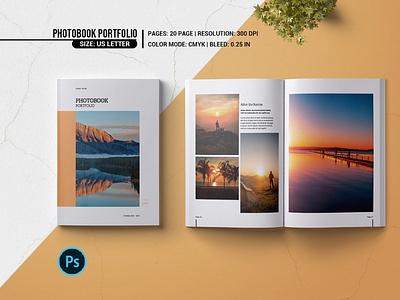 Photobook Portfolio minimal elegant photoshop template modern portfolio photo album photography magazine photography portfolio porfolio photobook photobook portfolio
